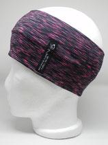 Funktionsstirnband Lines schwarz/pink
