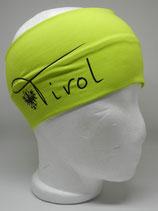 Baumwoll Stirnband Tirol mit Adler lime/schwarz