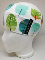 Federn orange grün grau auf weiß