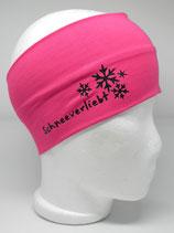 Baumwoll Stirnband Schneeverliebt pink