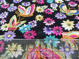 MNM Blumen und Schmetterlinge schwarz/bunt