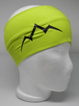 Baumwoll Stirnband Les Alpes lime/schwarz