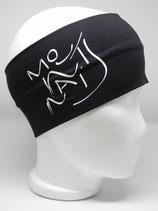 Headband Mountains Schriftzug schwarz/weiss