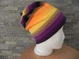 Beanie Farbverlauf gelb/schwarz/orange/violett