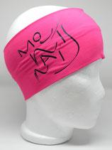 Headband Mountains Schriftzug pink