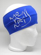 Headband Mountains Schriftzug royalblau/weiss