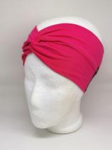 Turbanstirnband Uni pink