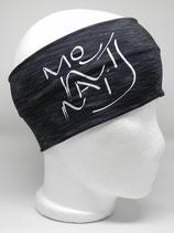 Funktionsstirnband Headband Mountains Schriftzug schwarz/grau/weiss