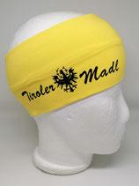 Stirnband Tiroler Madl gelb