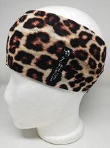 Leopard braun Strickstoff