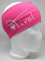 Baumwoll Stirnband Tirol mit Adler pink/weiß