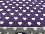 MNM Little Heart violett/weiß