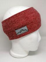 Stirnband Mountain Label Strick rost meliert