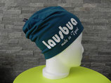 Lausbua made in Tyrol petrol/weiss
