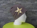Star Strickstoff taupe/gold
