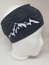 Funktions Stirnband Berg 1.0 schwarz-grau/weiß