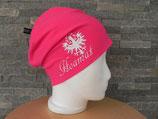 Beanie Hoamat pink/weiß