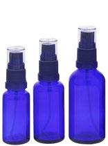 Blauglasflasche ohne Verschluss
