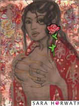 392, _rose317_geishawithblueEarings