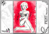 "Print ""red Marylin"", signed & framed"