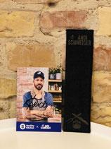 Andi Schweiger Jeans-Lesezeichen + Autogrammkarte (Limited Edition)