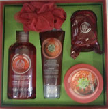 Set de Baño Body Shop Seleccion Festiva de Fresa