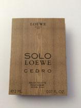 Muestra Solo Loewe Cedro CAB