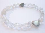 Bergkristall Kette mit Silber Zwischenteilen und Magnet Verschluss