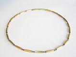 Halskette aus 750er Gelb- und Weißgold