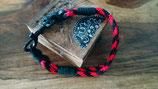 Tauhalsband in rot-schwarz
