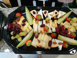 Plateau repas fromage, fruit et pain