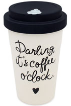 "heyholi® Woodcup ""Darling new black"" Bambusbecher"