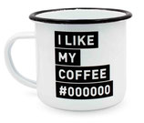 "heyholi® Enamel Cup ""I like my Coffee black"""
