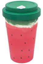"heyholi® Woodcup ""Wet Watermelon"" Bambusbecher"