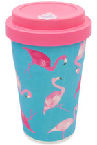 """heyholi® Woodcup """"Flamingo Overkill"""" Bambusbecher"""