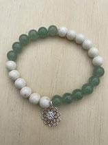 Bracelet Aventurin/Magnesit, 19cm