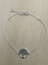 Fusskette Baum des Lebens, Silber