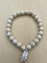 Bracelet Magnesit Feder, 19cm