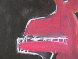 "Acrylic on canvas, 130cm x 70cm (51"" x 28"")"