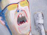 "Acrylic on canvas, ca. 78cm x 78cm (31""x 31"")"