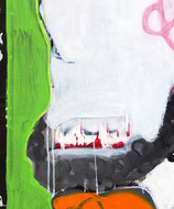 """Acrylic & spray paint on canvas, ca. 112 x 86 cm (44"""" x 34"""")"""