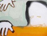 "Acrylic on canvas, ca. 92 x 55 cm (36"" x 22"")"
