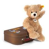 Steif Teddy Fynn 28 beige mit Koffer