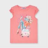 Mayoral T-Shirt Rüschen Flamingo 3013
