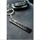 Audi Quattro  Schlüsselanhänger Carbon