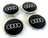 Audi Nabendeckel Black 68MM