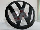 VW T6 Front Emblem in Schwarz Matt