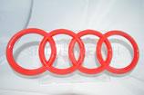 Audi Heck Emblem Klavierlack-Rot 192x67