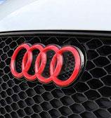Audi Front Emblem 273mm x 94mm Rot Glanz