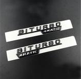 Mercedes Biturbo 4M Emblem Klavierlack